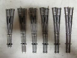 6 Atlas Nickle/silver 6 Switch Turnouts Code 80 N-scale Lot 916