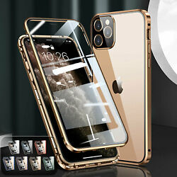 Magnetic Tempered Glass Case 360anddeg Full Body Cover For Iphone 12 11 Pro Max Xs Xr