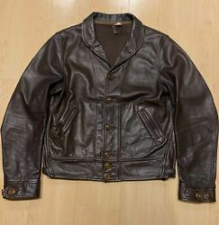 Sugar Cane X Mister Freedom Cowhide Leather Jacket Size 38 Used From Japan