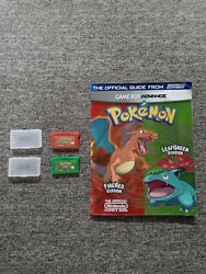 Pokemon Firered Version And Leafgreen Version Game Boy Advance Gba Authentic Lot
