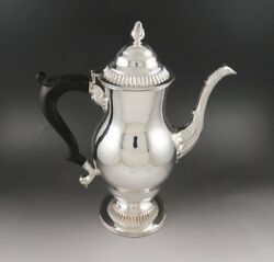 1800-1820 Georgian Old Sheffield Fused Silver Plate Dolphin/fish Crest Teapot