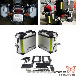 Quick Release Motorcycle Trunk Tool Box Luggage Side Boxes For Harley Honda Bmw