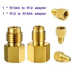 R12 To R134a Tank/vacuum Pump Adapters 1/4fmf X 1/2 Acme-m And 1/2 Acme Fm X 1/4m