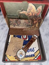 Fossil Roy Rogers And Trigger King Of Cowboys 1993 Pop Up Box Scarf Watch 5974