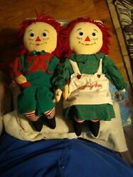 1998 Raggedy Anne And Andy Xl Holiday Dolls Snowden Target Line