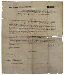 James K. Polk Authentic Signed 12.5x15.35 1840 Tennessee Land Grant Bas Aa03408