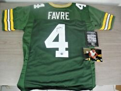 Brett Favre, Nfl Hall Of Famer, Authentic Autograph Signed Jersey, W/certificate