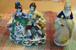 Vintage Japanese Hand Painted Porcelain Figurines Reduced Free Shipping