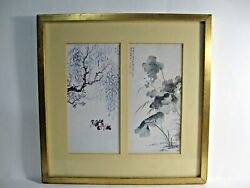 Chinese Contemporary Art Wu Yung Hsiang Water Lilies Framed Art
