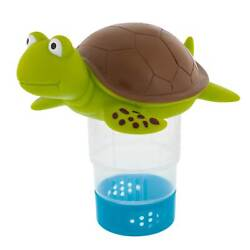 Turtle Floating Pool Chemical Dispenser Holds 3quot; Chlorine amp; Bromine Tablets