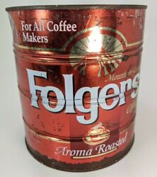 Vintage Folgers Can Tin For All Coffee Makers 39 Oz Big Lebowski Holy Grail Urn