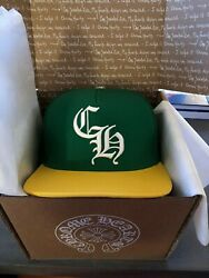 Chrome Hearts Baseball Hat Green Yellow Oakland Aand039s Cap Unisex One-size-fits-all