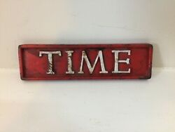 Vintage Time Magazine Original Cast Iron Newspaper Newsstand Paperweight 7.5x2