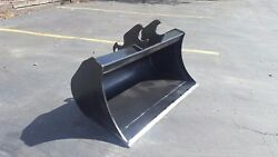 New 42 Excavator Clean Up Bucket For A Kubota U55with Coupler W/ Bolt On Edge
