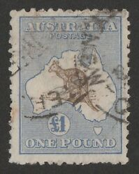 Kangaroo 3rd Wmk Andpound1 Brown And Blue - Used Roo One Pound Rare