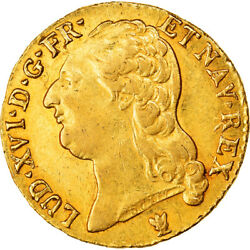 [878043] Coin France Louis Xvi Louis Dand039or 1787 Limoges Ef Gold