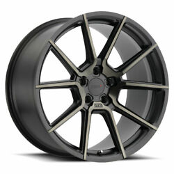 Tsw Chrono 18x8.5 +42 Matte Black Dark Tint Face Wheel Rim 5x112 Qty 4