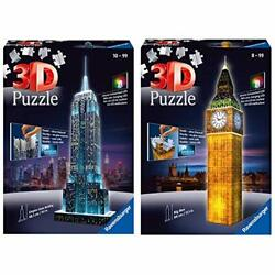 Ravensburger Empire State Building - Night Edition - 216 Piece 3d Jigsaw Puzz...