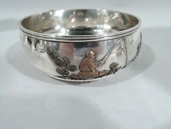Gorham Bowl - 385 - Antique Japonesque - American Sterling Silver Mixed Metal