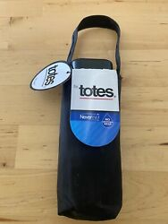 Raines by Totes NeverWet Flat Umbrella 38 inch Manual Black $17.44