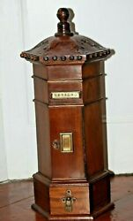 Post Box Country Manor House Letter Box Mail Box Pillar Box Wooden Rare Antique