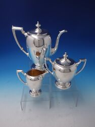 Pointed Antique By Reed Barton Dominick Haff Sterling Silver Coffee Set 5061