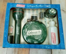 Coleman Flashlight Canteen Head Lamp Light Thermometer Water Bottle Combo Kit