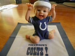 Ashton Drake Galleries Figurine Doll Indianapolis Colts Touch Down Colts