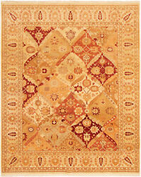 Vintage Tribal Area Rug 8and0392 X 9and03910 Authentic Oushak Hand Knotted Wool Carpet