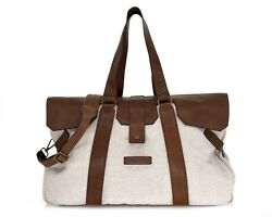 Brunello Cucinelli Duffle Holdall Travel Country Bag New 4195