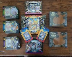 Pokemon Shining Fates Lot - Elite Trainer Boxes, Party Pin Packs, Tins, And Cards