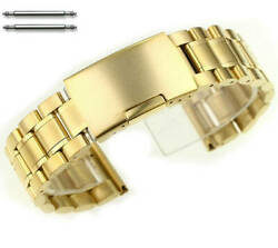 Stainless Steel Bracelet Gold T 19mm 21mm 23mm Replacement Watch Band Strap 5017