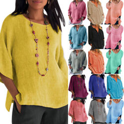 Plus Size Women Summer Short Sleeve T-shirt Casual Loose Tunic Blouses Tops Tee.