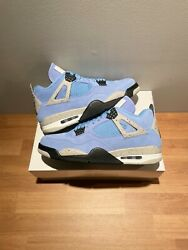 Air Jordan 4 Retro University Blue Menand039s Size 8.5 In Hand Now Ships Same Day