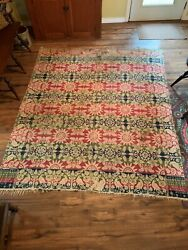 Antique Coverlet, Inscribed Middletown Frederick County Maryland Joshua Corick
