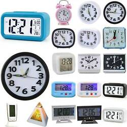 Lcd Digital Clock Battery Operated Electronic Alarm Clocks Small Home Decoration