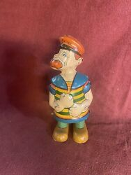Neat Vintage Chein Toy Tin Wind Up Barnacle Bill Walking Toy - Works