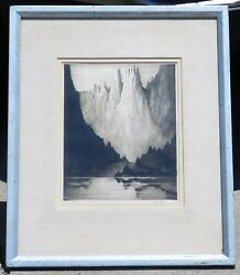 Gerry Peirce, B.1900 Signed Etching/drypoint, Colorado Gothic 14 X 11