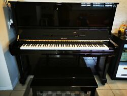 Weber 131 Upright Piano Polished Ebony Comes With Chair