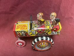 Marx Old Jalopy College Crazy Car With Box. Wind-up Vintage 1950and039s Tin Litho