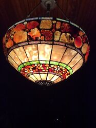 Style Chandelier Stained Glass Ceiling Light Fixture