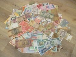 200 Assorted Foreign Banknotes World Paper Money Circulated Collections And Lots