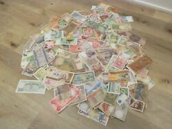 Mixed Assortment Of 500 World Banknotes Circulated Foreign Currency Paper Money