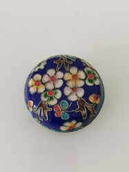 1950s Chinese cloisonné enamel flower box #3 Home clearance