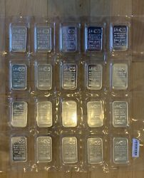 20 Johnson Matthey 1 Oz. Silver Bars Consecutive Serial Numbers