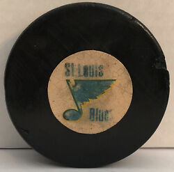 1968-69 St. Louis Blues Converse Rubber Reverse Official Game Puck Nhl Usa
