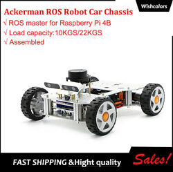 Ackerman Ros Robot Car Chassis For Raspberry Pi 4b 2g+32g Rplidar A2 Finished