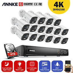 Annke 4k 8ch 16ch Nvr Video 4mp Full Color Night Vision Poe Camera System H.265+