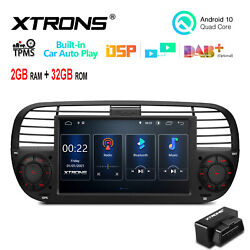 Obd+7 Android 10 32gb Car Stereo Radio Gps Car Auto Play For Fiat 500 2007-2015