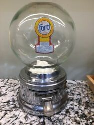 Glass Globe Ford Gumball Machine With Available Options